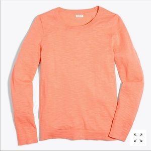 J. Crew Tangerine Coral Teddie Sweater